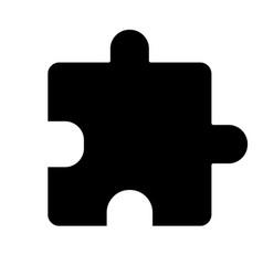 Extension glyph icon vector