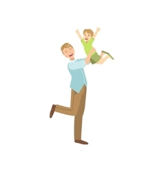 Father Throwing The Son In The Air vector image