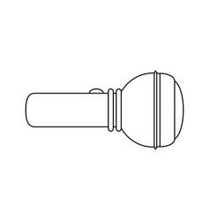 flashlight sideview icon image vector image