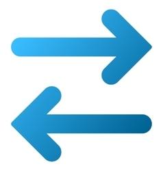 Flip Horizontal Gradient Icon vector