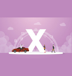Generation x concept people with team and people vector