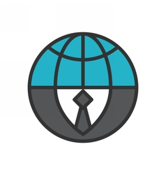 Global Business Icon vector image