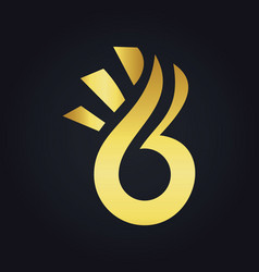 Gold abstract beauty fruit logo vector