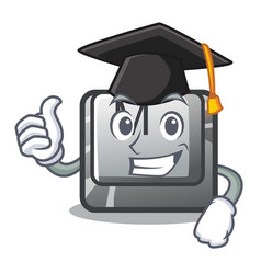 graduation button m in character shape vector image
