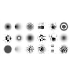 halftone circles abstract comic pop art graphic vector image