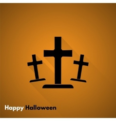 Happy Halloween Gravestone icon vector image
