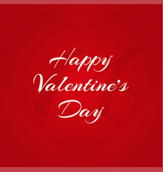happy valentine39s day inscription on a red vector image