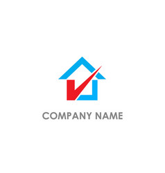 home check mark agent logo vector image