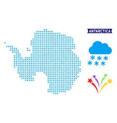 Icy antarctica map vector