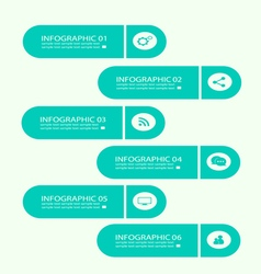 Infographic buttons color neon vector