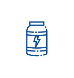 Isolated gym supplement jar line design vector