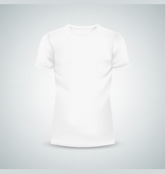 male t-shirt template mockup vector image