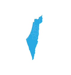 Map of israel palestine high detailed map vector
