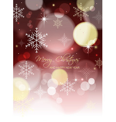 Merry christmas and happy new year abstract vector