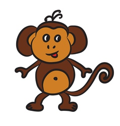 monkey vector image