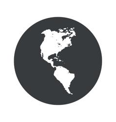 Monochrome round America icon vector image