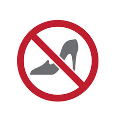 No women allowed sign on white background for vector