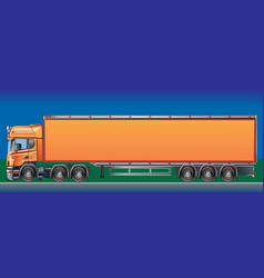 orange cargo delivery truck vector image