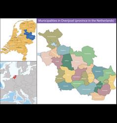 Overijssel is a province netherlands vector