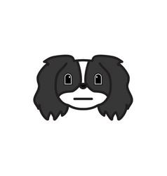pekingese emoji embrrassed multicolored icon vector image