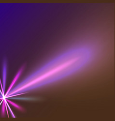 purple star ray vector image