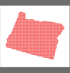 red dot map of oregon vector image