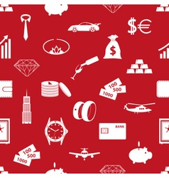 Richness and money theme red seamless pattern vector