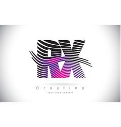 rx r x zebra texture letter logo design vector image