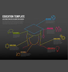 School education infographic template vector