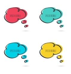 Set hand drawn speech bubble vector image