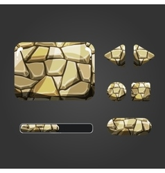 Set of stone different buttons vector