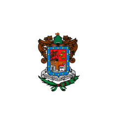 simple flag state of mexico vector image