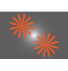 two orange flowers vector image