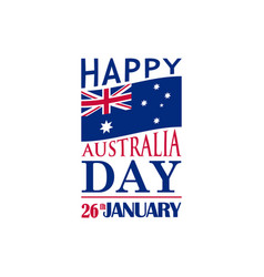 typography festive banner for australia day 26th vector image