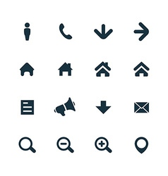 UI Outline For Web and Mobile icons set vector image