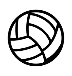 volleyball ball equipment icon vector image
