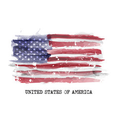 Watercolor flag america vector