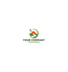 way to farm logo design vector image