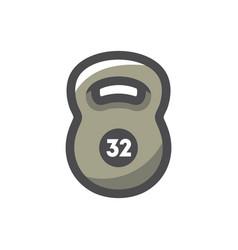 weight kilogram barbell icon cartoon vector image