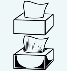 White tissue box vector image