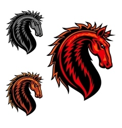 Wild mustang horse cartoon mascot vector