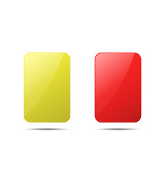 Yellow and red cards vector