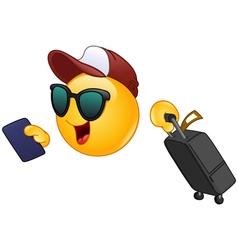air traveler emoticon vector image