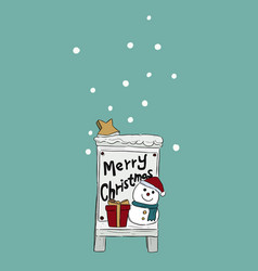 christmas hand drawn set vector image vector image