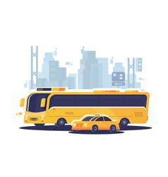 city public transport vector image