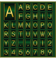 deco golden font vector image