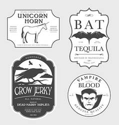 Funny vintage halloween potion labels vector