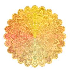 golden abstract floral mandala design - digital vector image vector image