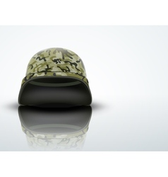 Light Background Military helmet with camo pattern vector image vector image