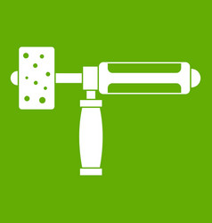 precision grinding machine icon green vector image